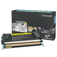 Lexmark C734A1YG Laser Toner Cartridge