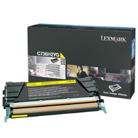 Lexmark C736H2YG Laser Toner Cartridge