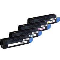 Compatible Okidata 43324466 / 43324467 / 43324468 / 43324469 Laser Toner Cartridge MultiPack