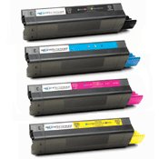 Compatible Okidata 42127401 / 42127402 / 42127403 / 42127404 Laser Toner Cartridge MultiPack