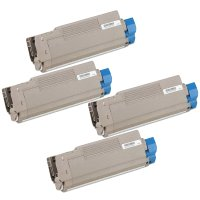 Okidata 43324401 / 43324402 / 43324403 / 43324404 Compatible Laser Toner Cartridge Value Pack