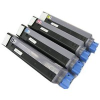 Compatible Okidata 43324417 / 43324418 / 43324419 / 43324420 Laser Toner Cartridge MultiPack
