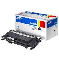 Samsung CLT-P407B Laser Toner Cartridges (2/Pack)