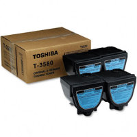 Toshiba T3580 Black Laser Toner Cartridges (4/Pack)